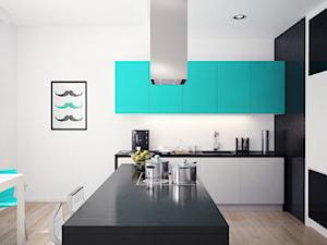 Nowoczesna kuchnia w stylu Tiffany Blue