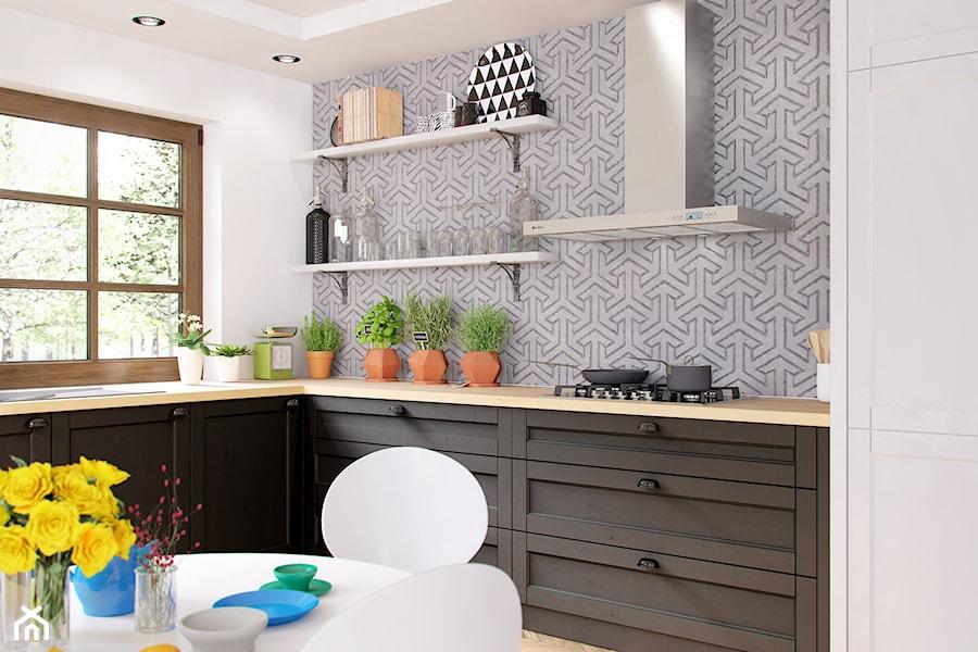Klasyczna przestronna kuchnia z okapem przyściennym   -> Kuchnia Z Okapem