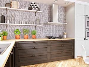 Klasyczna przestronna kuchnia z okapem przyściennym - zdjęcie od Okapy kuchenne