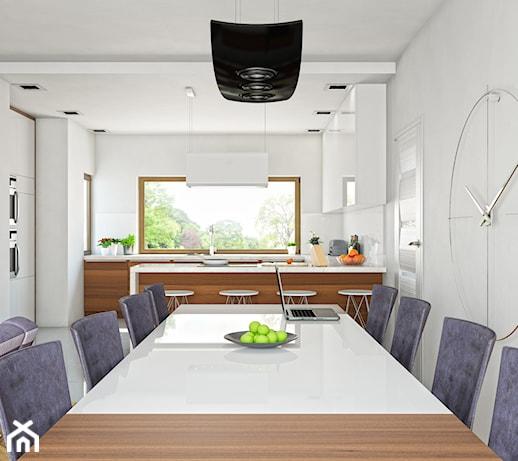 Kuchnia nowoczesna w stylu minimalistycznym po czona z for Kuchnia polaczona z salonem