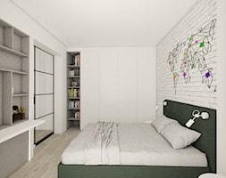 mieszkanie 43 m2 - Sypialnia, styl industrialny - zdjęcie od a3projektowaniewnetrz - Homebook