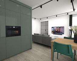 mieszkanie 43 m2 - Kuchnia, styl industrialny - zdjęcie od a3projektowaniewnetrz - Homebook