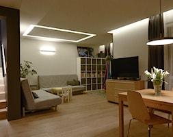 dom 154m2 - Salon, styl nowoczesny - zdjęcie od a3projektowaniewnetrz - Homebook