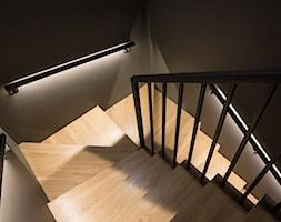 dom 154m2 - Schody, styl nowoczesny - zdjęcie od a3projektowaniewnetrz - Homebook
