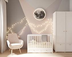 Apartament w Warszawie - Średni szary pokój dziecka dla chłopca dla dziewczynki dla niemowlaka, styl eklektyczny - zdjęcie od OSOM.