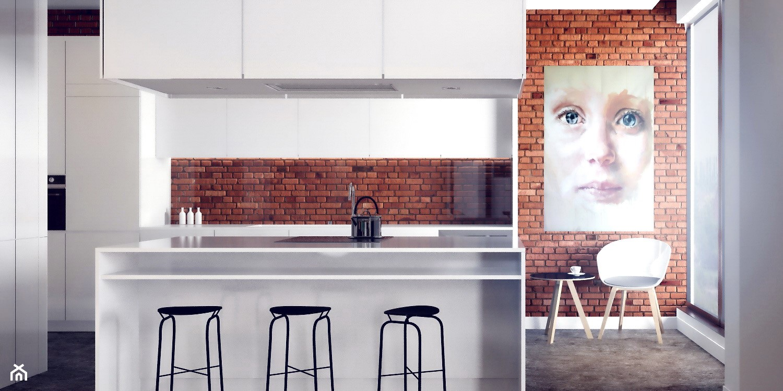 Mieszkanie - Abart Łódź - Duża otwarta kuchnia z wyspą, styl nowoczesny - zdjęcie od OSOM. - Homebook