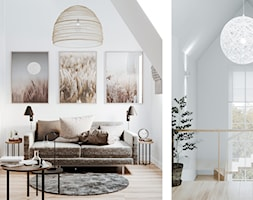 Dom jednorodzinny pod Łodzią - Mały biały hol / przedpokój, styl skandynawski - zdjęcie od OSOM.