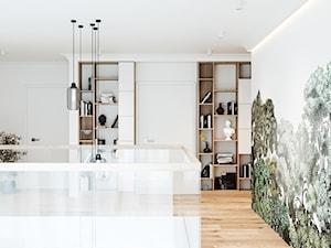 Dom jednorodzinny w Łodzi - Duży biały hol / przedpokój, styl skandynawski - zdjęcie od OSOM.