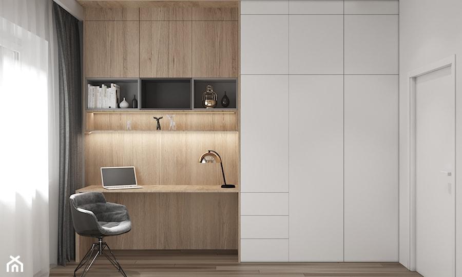 Aranżacje wnętrz - Biuro: Apartament w Warszawie - Biuro, styl minimalistyczny - OSOM.. Przeglądaj, dodawaj i zapisuj najlepsze zdjęcia, pomysły i inspiracje designerskie. W bazie mamy już prawie milion fotografii!