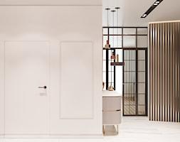 Apartament w Warszawie - Średni biały hol / przedpokój, styl eklektyczny - zdjęcie od OSOM.