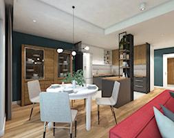 Dom w Rudzie Śląskiej - Średnia otwarta czarna jadalnia w salonie, styl nowoczesny - zdjęcie od nanoSTUDIO