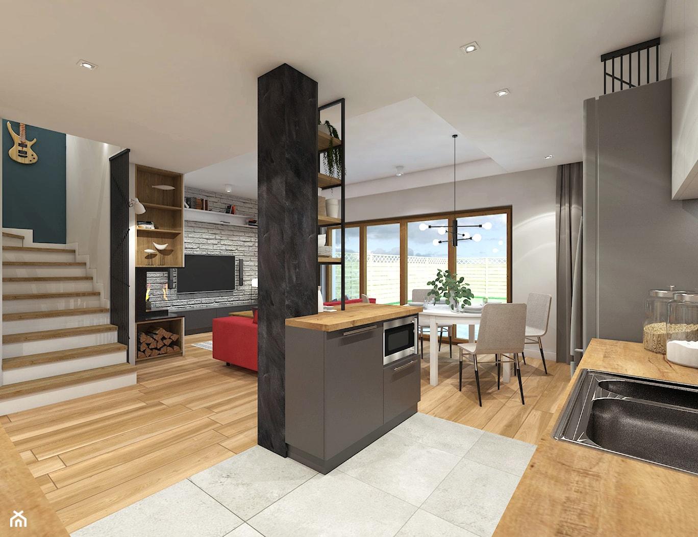 Dom w Rudzie Śląskiej - Kuchnia, styl nowoczesny - zdjęcie od nanoSTUDIO - Homebook