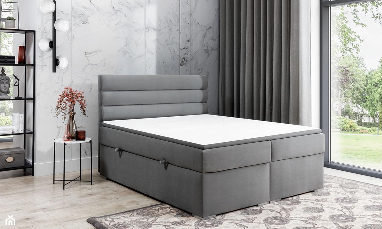 Łóżko kontynentalne z materacem