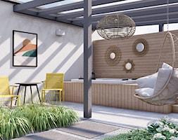 Słoneczny ogród inspirowany stylem Boho - Ogród, styl skandynawski - zdjęcie od Kinga Madej architekt krajobrazu - Homebook