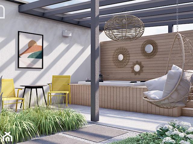 Słoneczny ogród inspirowany stylem Boho