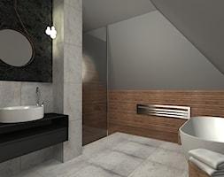 Łazienka na poddaszu - zdjęcie od Niuans projektowanie wnętrz - Homebook