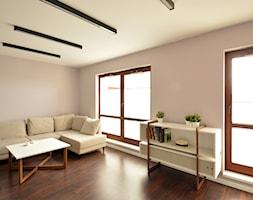 Studio na Zabłociu - Średni szary salon, styl nowoczesny - zdjęcie od Niuans projektowanie wnętrz