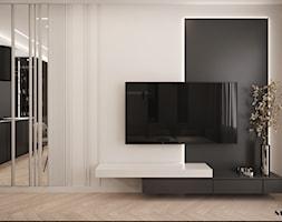 Przestrzeń dzienna ze strefą telewizyjną - zdjęcie od MOOVIN INTERIORS - Homebook