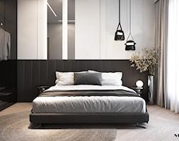 Nowoczesna sypialnia z garderobą - zdjęcie od MOOVIN INTERIORS - Homebook