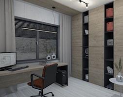 Projekt domu okolice Myszkowa - Biuro, styl nowoczesny - zdjęcie od AUMÜLLERDESIGN Studio projektowania wnętrz - Homebook