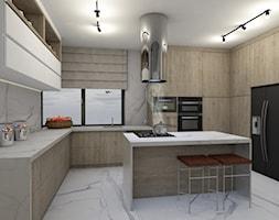 Projekt domu okolice Myszkowa - Kuchnia, styl nowoczesny - zdjęcie od AUMÜLLERDESIGN Studio projektowania wnętrz - Homebook