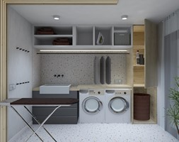 Pralnia - zdjęcie od AUMÜLLERDESIGN Studio projektowania wnętrz - Homebook