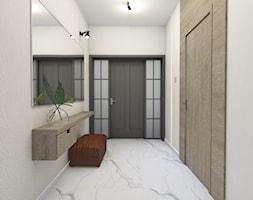 Projekt domu okolice Myszkowa - Hol / przedpokój, styl nowoczesny - zdjęcie od AUMÜLLERDESIGN Studio projektowania wnętrz - Homebook
