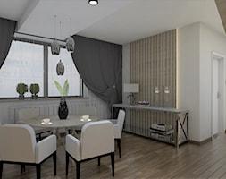 Piętro domu z okolic Krakowa - Jadalnia, styl glamour - zdjęcie od AUMÜLLERDESIGN Studio projektowania wnętrz - Homebook