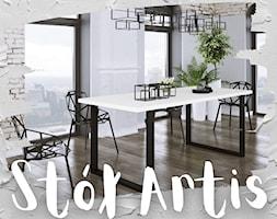 Stół Artis w stylu industrialnym 185x90 cm - zdjęcie od Furnix - nowoczesne meble - Homebook