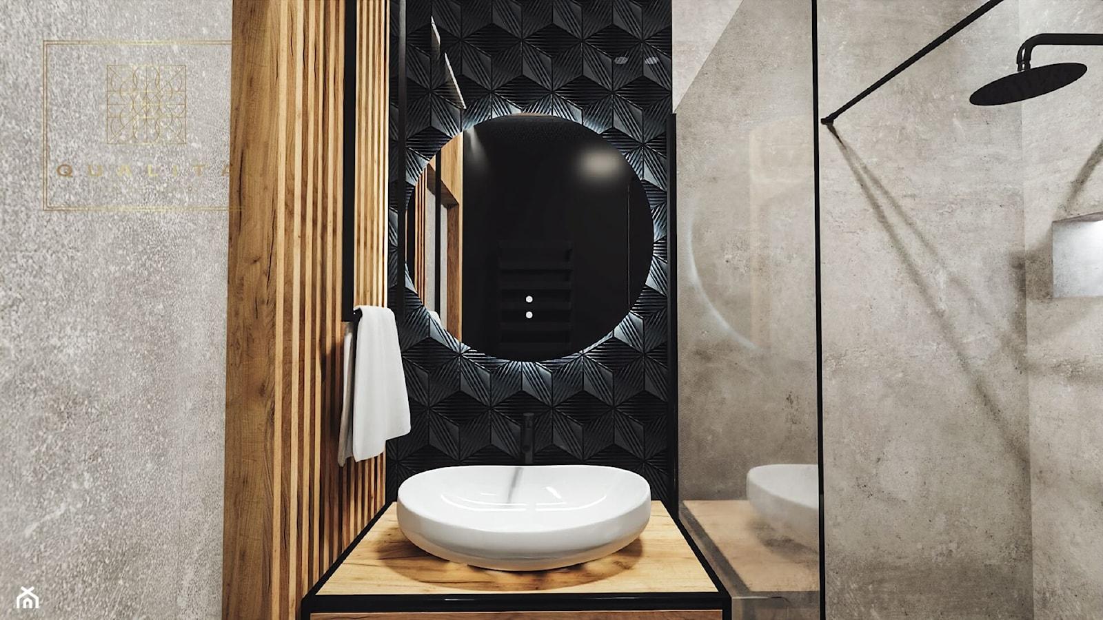 Mała łazienka 3m2 z kabiną - zdjęcie od Qualita Interno - Homebook