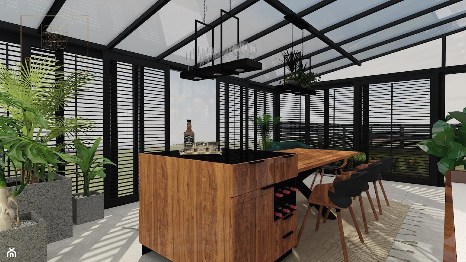 Ogród zimowy - salon połączony z ogrodem zimowym - zdjęcie od Qualita Interno - Homebook