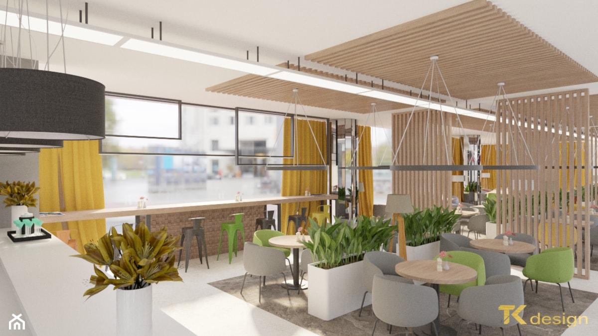 Projekt kawiarni z restauracją w holu budynku biurowego - Wnętrza publiczne, styl nowoczesny - zdjęcie od TK design - Homebook