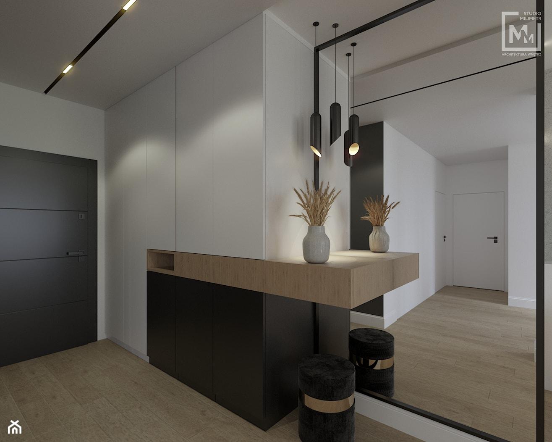 Przedpokój z zabudową w mieszkaniu w Zabrzu - zdjęcie od STUDIO MILIMETR - Homebook