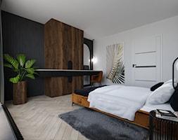 Projekt sypialni z dominacją drewna - zdjęcie od Dartdesign Studio Projektowe Dawid Peciak - Homebook