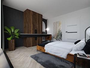 Projekt sypialni z dominacją drewna