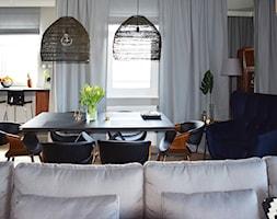 Na Modrzewinie - Średni szary salon z jadalnią, styl nowoczesny - zdjęcie od KOLORUM - Homebook