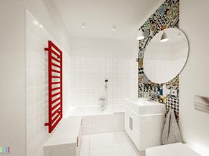 mała łazinka - Średnia biała łazienka z oknem, styl skandynawski - zdjęcie od KOLORUM