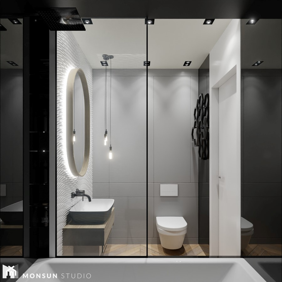 Dom w Wieliczce - Łazienka, styl nowoczesny - zdjęcie od Monsun Studio
