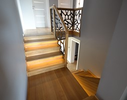 Schody betonowe obłożone dębowym drewnem - zdjęcie od Schodo-System - Homebook