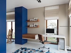 Gabinet połączony z pracownią malarską - zdjęcie od KJ.architekt Kamila Jędrzejewska