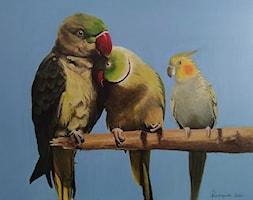 Papugi+-+zdj%C4%99cie+od+Lustkunst+Aleksandra+Kwapiszewska