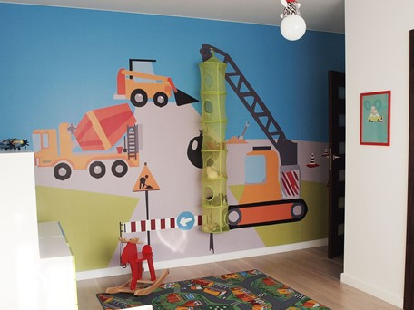 Pokój trzylatka - Mały biały pokój dziecka dla chłopca dla dziewczynki dla niemowlaka - zdjęcie od JC ARCHITEKCI
