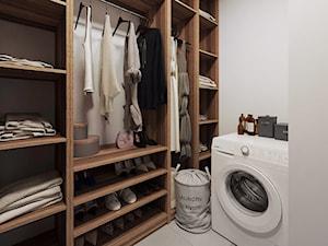 Cozy Loft Industrial - Średnia zamknięta garderoba oddzielne pomieszczenie - zdjęcie od DISENO INTERIORS - Apartamenty PREMIUM