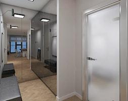 Moderno Art Deco - Średni biały hol / przedpokój - zdjęcie od DISENO INTERIORS - Apartamenty PREMIUM