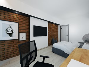Średnia biała sypialnia małżeńska - zdjęcie od DISENO INTERIORS - Apartamenty PREMIUM