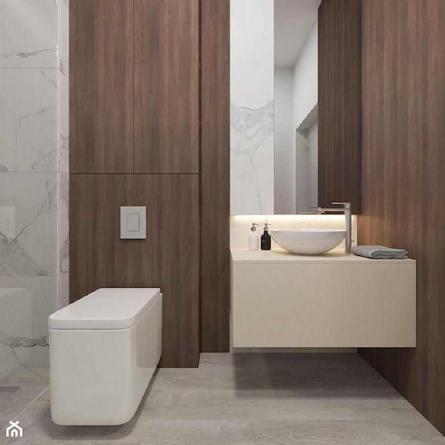 Loft 33 - Mała szara łazienka w bloku w domu jednorodzinnym bez okna - zdjęcie od DISENO INTERIORS - Apartamenty PREMIUM