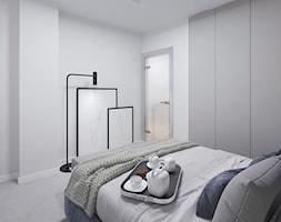 Moderno Art Deco - Średnia biała sypialnia małżeńska na poddaszu - zdjęcie od DISENO INTERIORS - Apartamenty PREMIUM