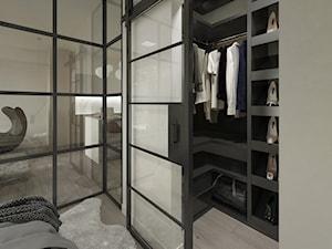 Industrial Loft - Mała otwarta garderoba przy sypialni - zdjęcie od DISENO INTERIORS - Apartamenty PREMIUM