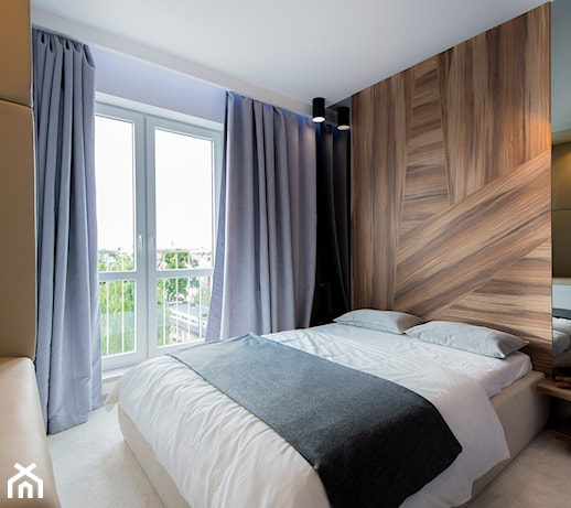 D Interiors Mała Sypialnia: Realizacja Modern Small Apartment