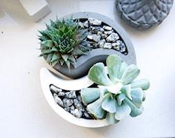 "Doniczka z betonu ""Yin Yang"" - zdjęcie od Rausch Beton - Homebook"